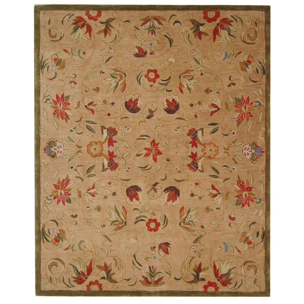 Anatolia Beige/Green 6 ft. x 9 ft. Area Rug