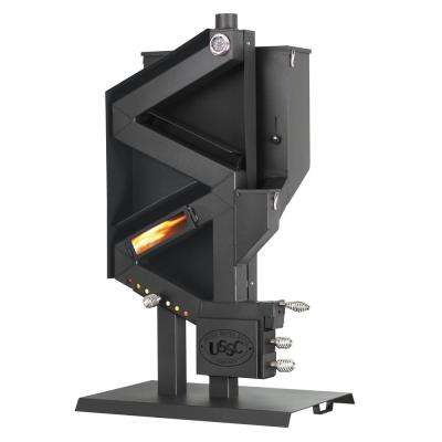 Wiseway 2,000 sq. ft. 40,000 BTU Non Electric Gravity Fed Pellet Stove