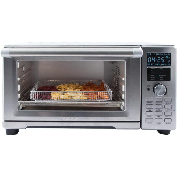 NuWave Bravo XL 1800-watt Smart Air Fryer Convection Oven with Integrated Digital Temperature Probe Plus Exclusive Silicone Pad /& Stainless Steel Tray Exclusive
