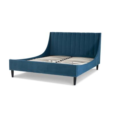 Aspen Upholstered Queen Bed, Satin Teal