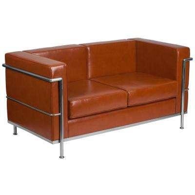 Cognac Loveseat