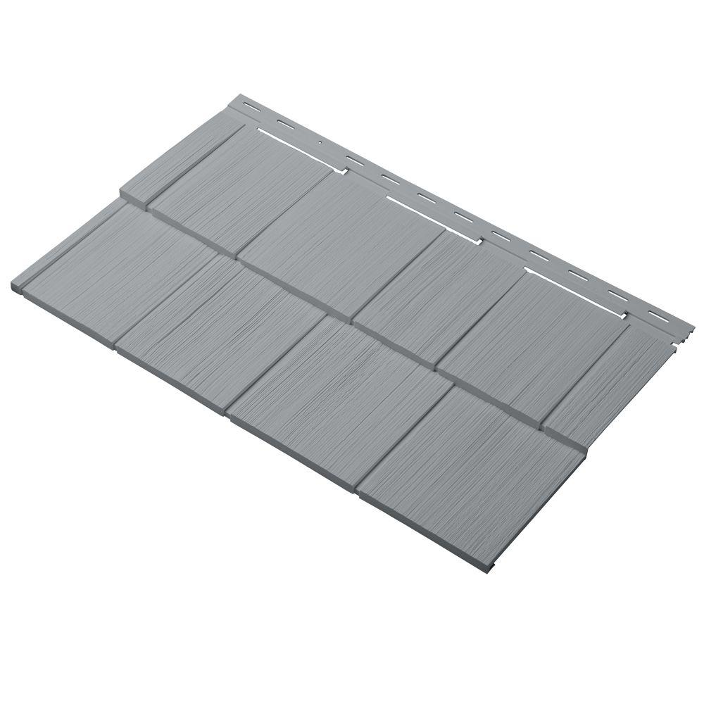 Cellwood Cedar Dimensions Shingle 24 in. Polypropylene Siding Sample in Wedgewood