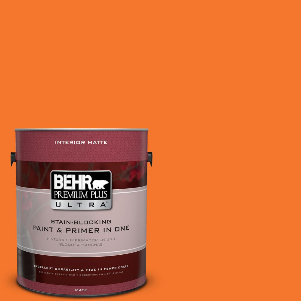 BEHR Premium Plus Ultra 1 gal. #230B-7 Kumquat Flat/Matte Interior Paint