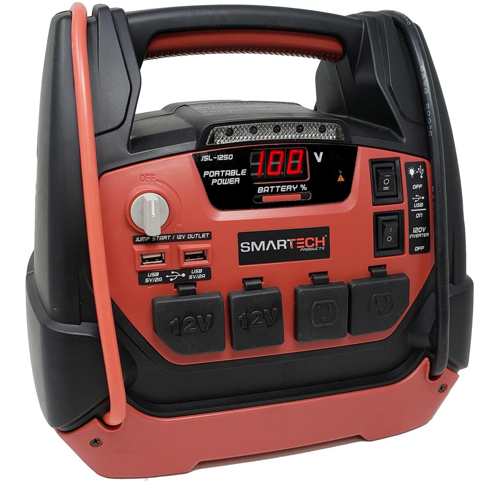 Smartech Products JSL-1250 Power Station with Jump Starter and Air Compressor