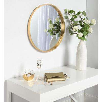 Travis Round Gold Mirror