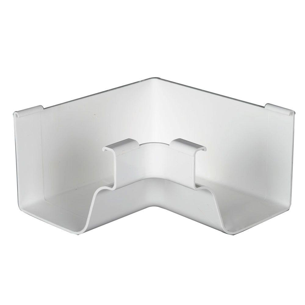 Amerimax Home Products White Vinyl K-Style Inside Mitre