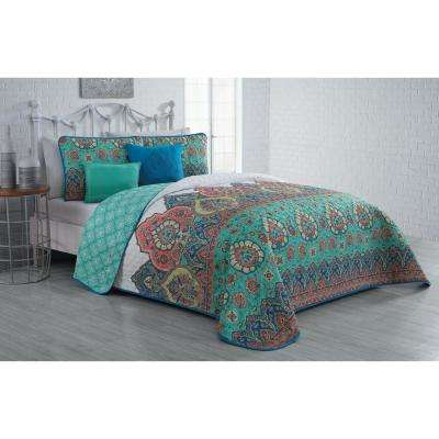 Livia 5-Piece Jade King Quilt Set