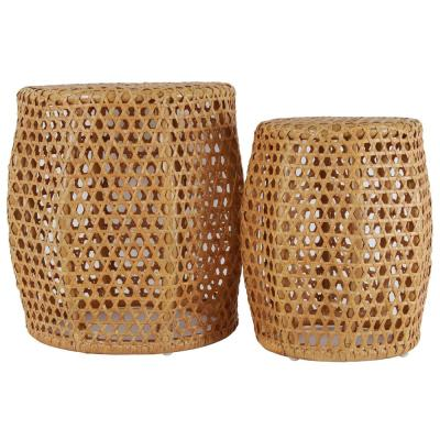 Ziggy Natural Rattan Nesting Tables (Set of 2)