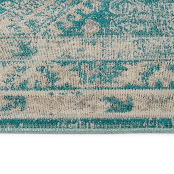 Kaleen Zuma Beach Collection Turquoise 2 Ft 2 In X 7 Ft 6 In Runner Rug Zum12 78 2276 The Home Depot