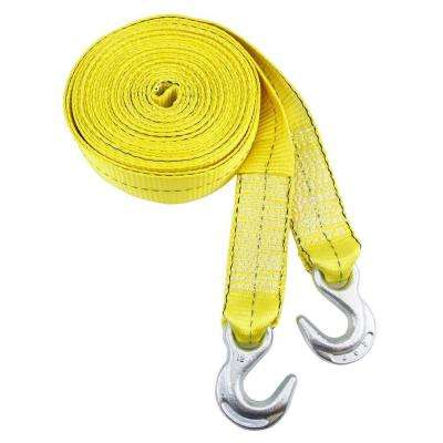 2 in. x 30 ft. Tow Strap Rope with Hook