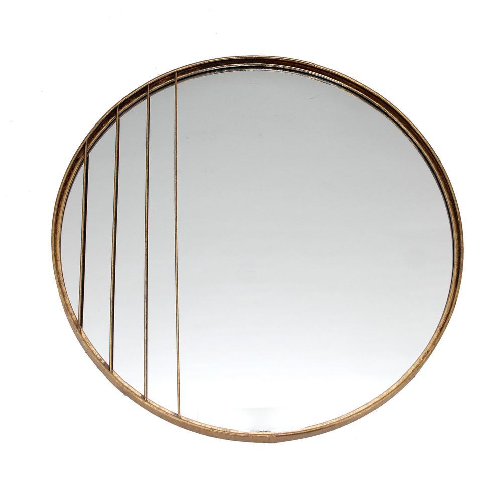 Corte Gold Round Mirror