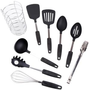 Chef S Better Basics 9 Piece Utensil Set With Wire Caddy