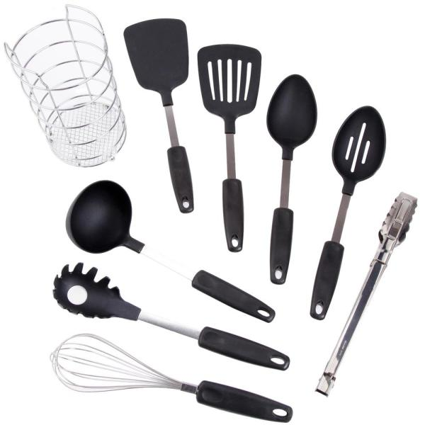 Chef's Better Basics 9-Piece Utensil Set with Wire Caddy
