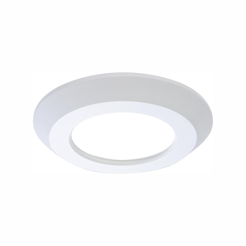 Halo Sld 4 In White Integrated Led Round Recessed Trim 90 Cri 3000k Soft White