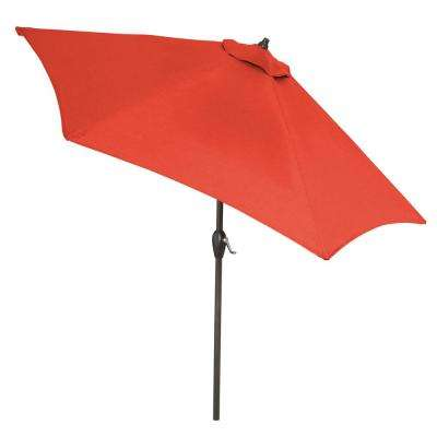 9 ft. Aluminum Market Tilt Patio Umbrella in CushionGuard Ruby