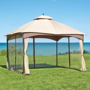 Massillon 10 Ft X 12 Ft Double Roof Gazebo L Gz933pst