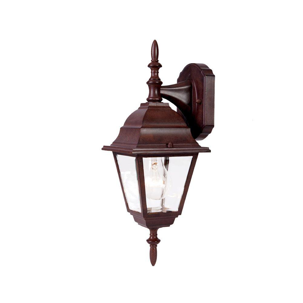 Builder's Choice Collection 1-Light Burled Walnut Outdoor Wall-Mount Fixture