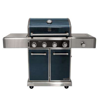 4 Burner Propane Gas Grill in Metallic Gun Metal Color