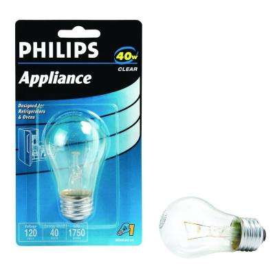 40-Watt A15 Incandescent Clear Appliance Light Bulb
