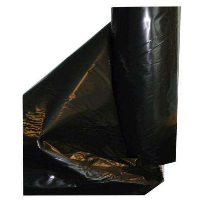 10 ft. x 100 ft. 4-mil Black Fire Retardant Poly Construction Film