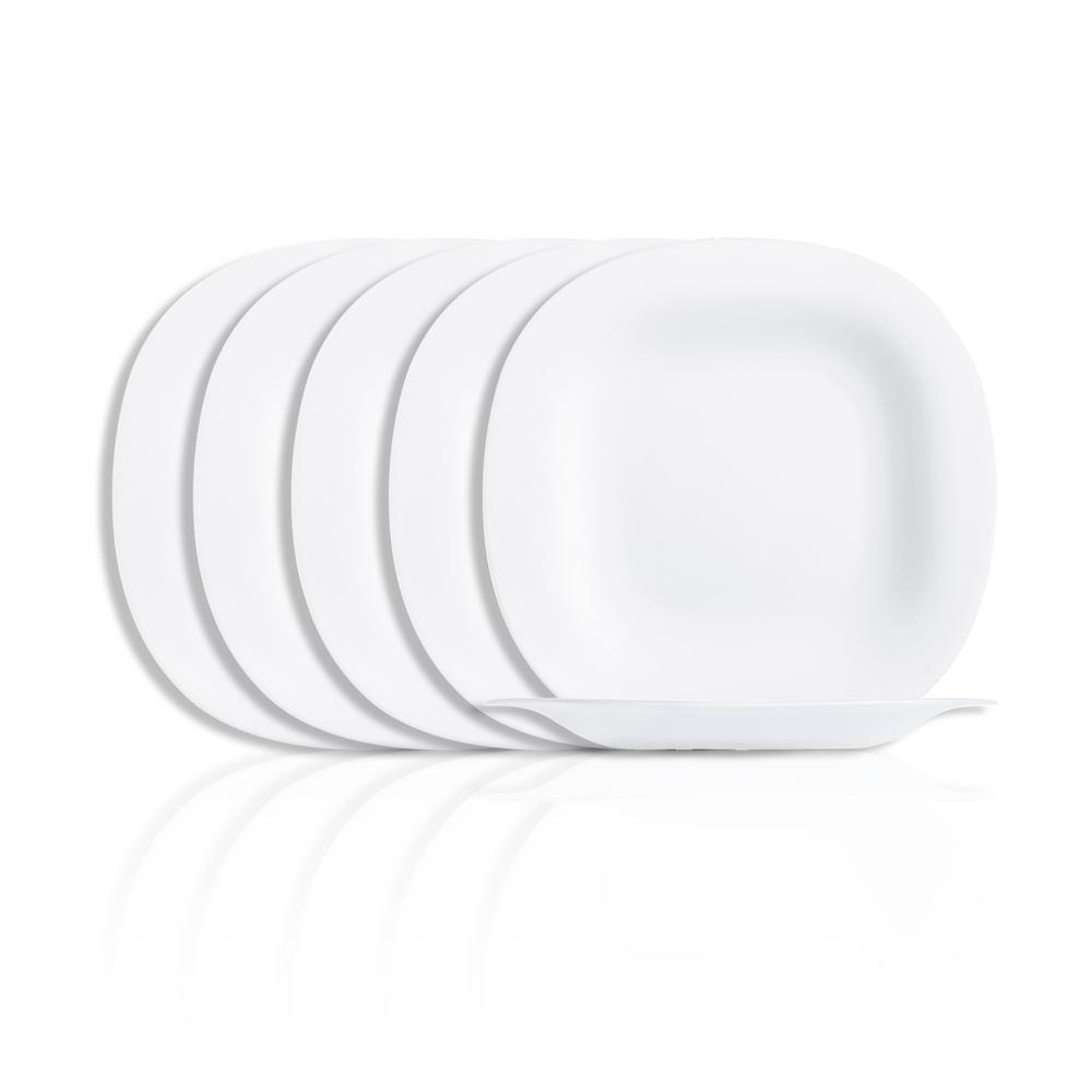 Carine White Dessert Plate Set (6-Piece)