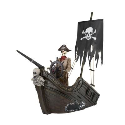 116 in. Pirate Ship with Animated Steering Wheel