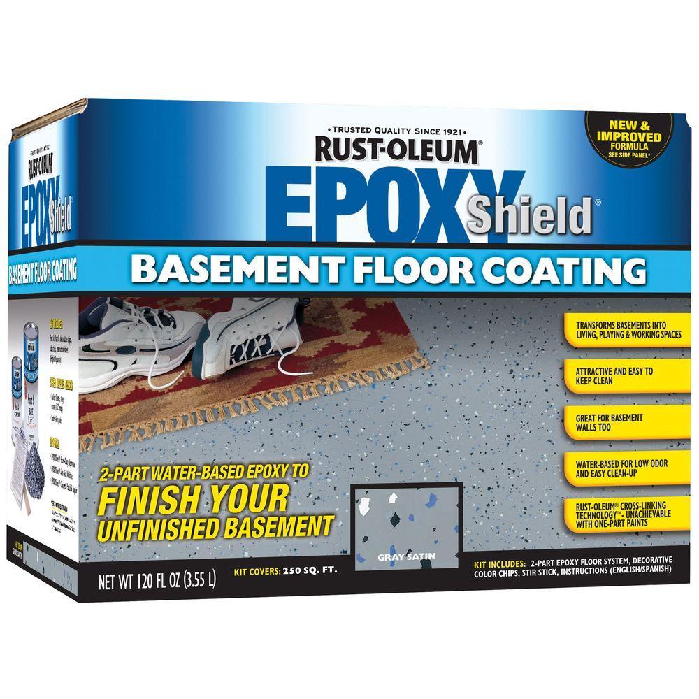 Rust-Oleum Epoxy Shield 1-gal. Basement Gray Floor Coating Kit-DISCONTINUED