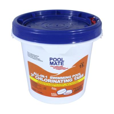 Pool Mate 15 Lb Pool All In 1 3 In Chlorinating Tablets 1 1415m The Home Depot