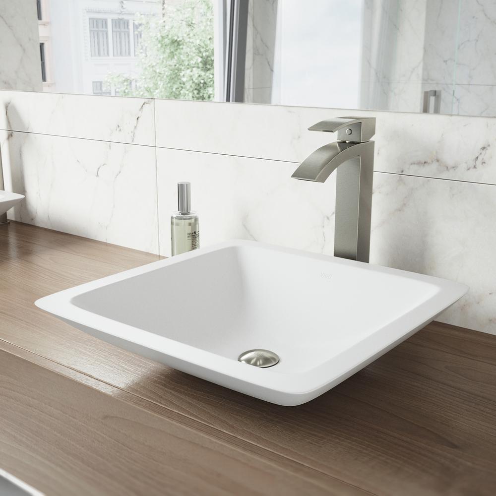 Vigo Duris Single Hole Single Handle Vessel Bathroom Faucet In Brushed Nickel Vg03007bn The Home Depot