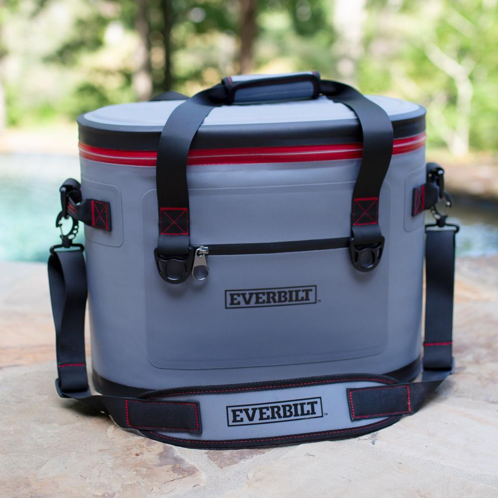 cb453b134 Everbilt 30-Can Soft-Sided Cooler Bag – Holds 22 lbs. of Ice-410-021 ...