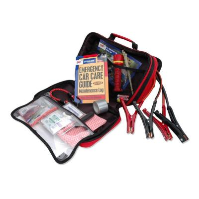 Emergency Road Traveler Safety and First Aid Kit 63-Piece