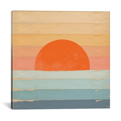 """Sunrise Over The Sea"" by Tammy Kushnir Canvas Wall Art"