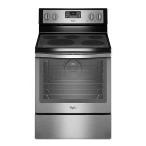 Click here to buy Whirlpool 6.4 cu. ft. Electric Range with Self-Cleaning Convection Oven in Stainless Steel by Whirlpool.