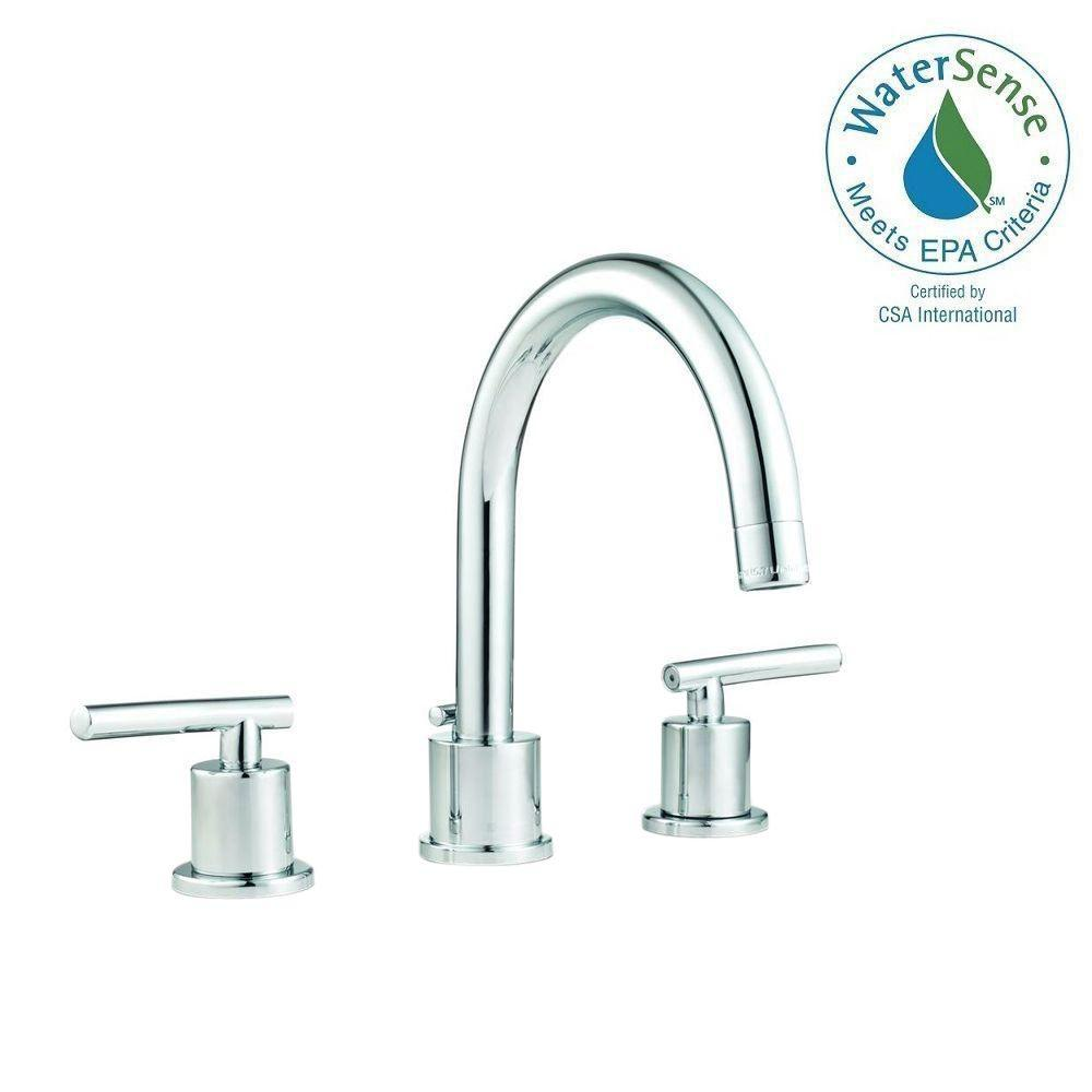 Glacier Bay Dorset 8 in. Widespread 2-Handle High-Arc Bathroom Faucet with Pop-Up Assembly in Chrome