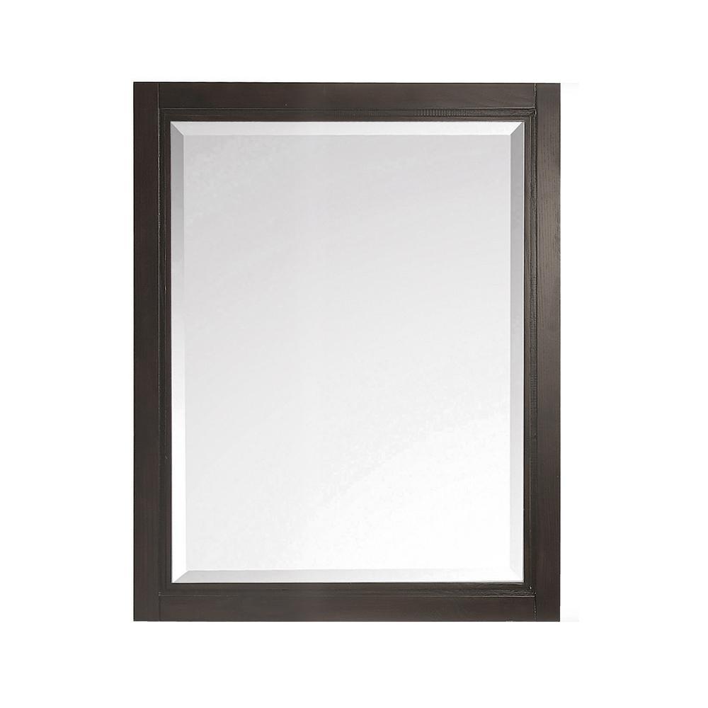 Hepburn 24 in. x 32 in. Framed Wall Mirror in Dark Charcolate