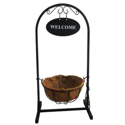 18 in. x 12 in. x 36 in. Coconut Metal Welcome Basket