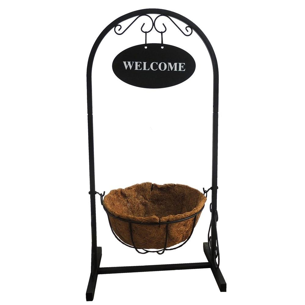18 in. x 12 in. x 36 in. Coconut Metal Welcome