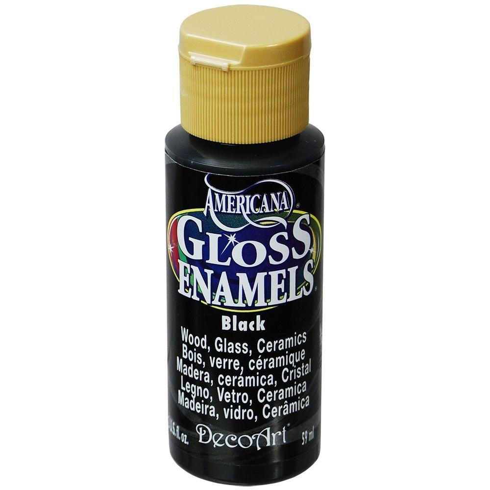 Americana 2 oz. Black Gloss Enamel Paint