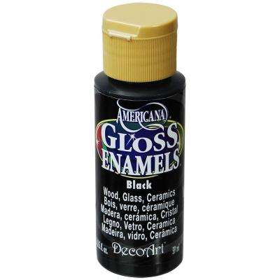 2 oz. Black Gloss Enamel Paint