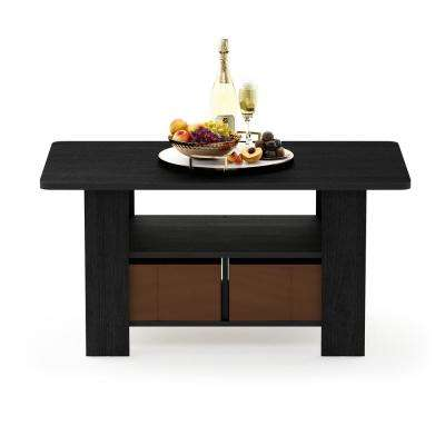 Andrey Americano/Medium Brown Coffee Table with Bin Drawer