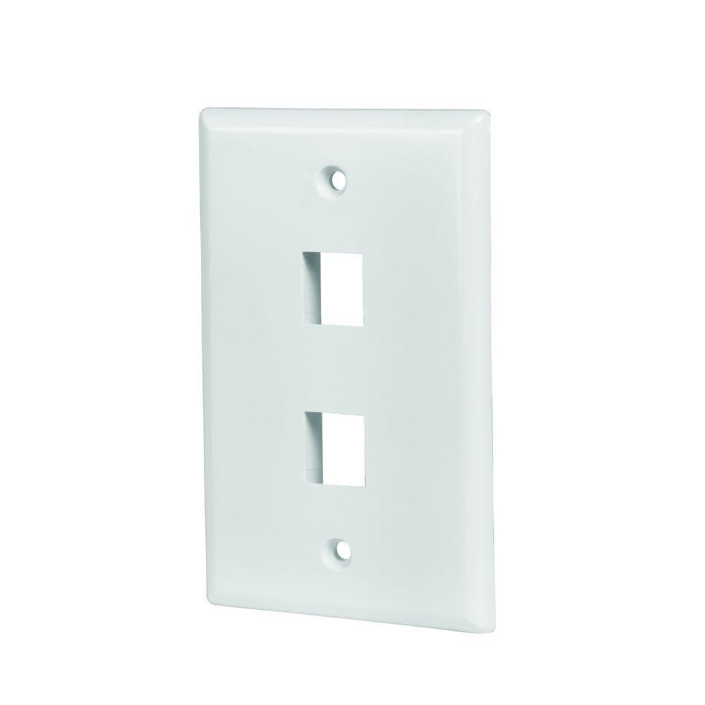 Electrical Wall Plates Commercial Electric 2Port Wall Plate In White5002Wh  The Home