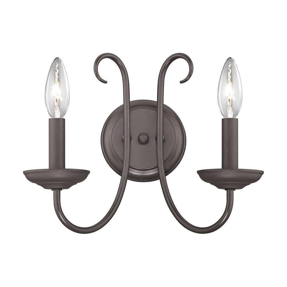 Titan Lighting Williamsport 2 Light Oil Rubbed Bronze Sconce