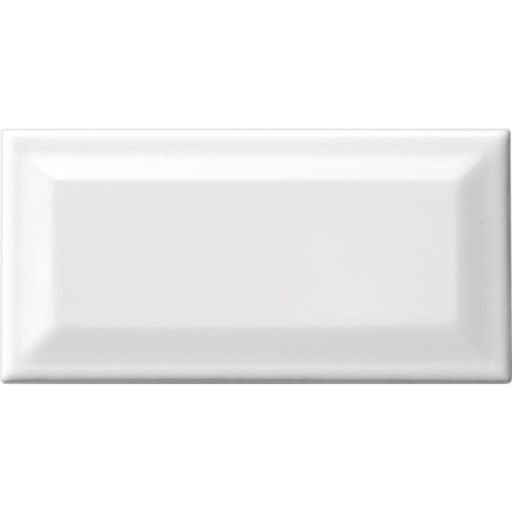 Daltile Finesse Bright White 3 In X 6 Ceramic Beveled Wall Tile