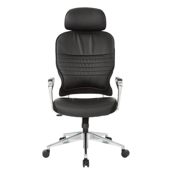 Bonded Leather Managers Chair with Headrest