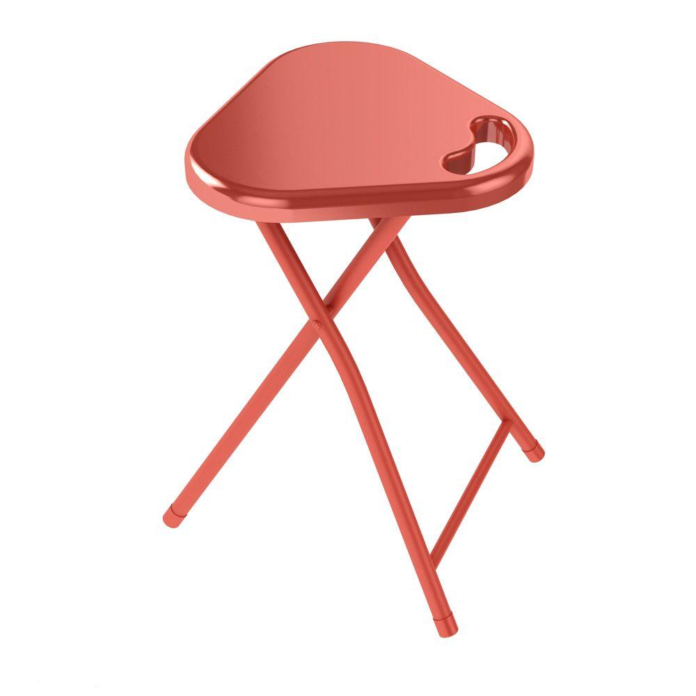 Atlantic Tangerine Tango Folding Stool with Handle (4-Pack)-DISCONTINUED