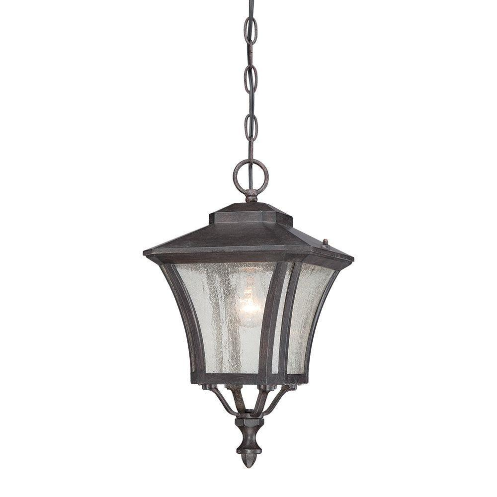 Acclaim Lighting Tuscan Collection 1-Light Black Coral Outdoor Hanging Lantern