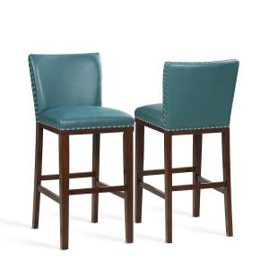 Incredible Tiffany 30 In Peacock Contemporary Bar Stool Set Of 2 Gmtry Best Dining Table And Chair Ideas Images Gmtryco