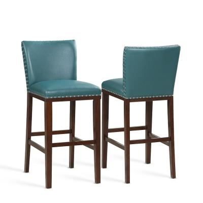 Tiffany 30 in. Peacock Contemporary Bar Stool (Set of 2)