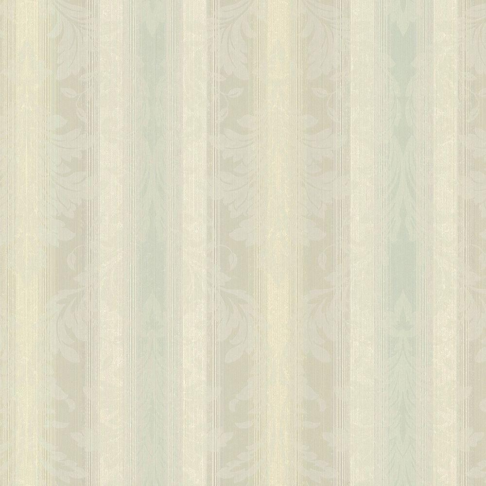 Chesapeake Rangeley Aqua (Blue) New Avalon Stripe Wallpaper