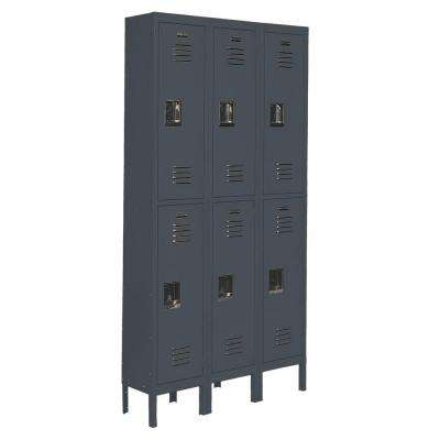 Citadel 12 in. W x 18 in. D x 36 in. H Steel Double Tier Lockers in Gray